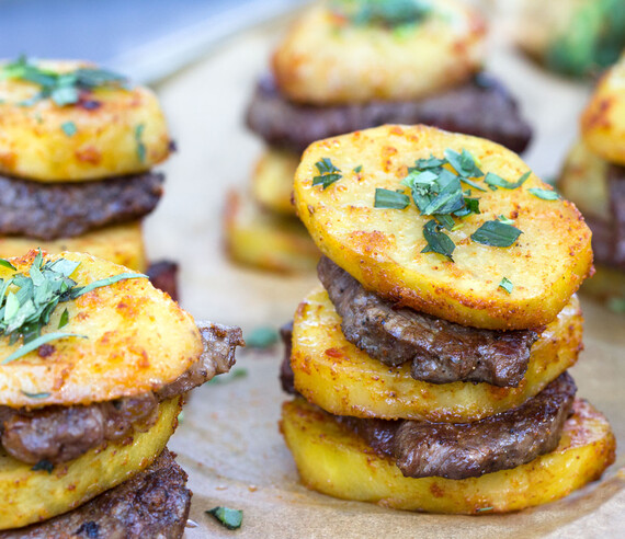 Steak and Idaho® Potato Stacks