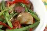 Festive Green Bean, Roasted Red Pepper, Pine Nut & Potato Salad
