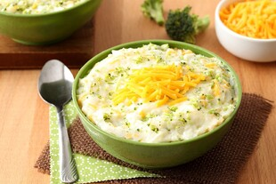 Broccoli and Cheese Mashed Idaho® Potatoes
