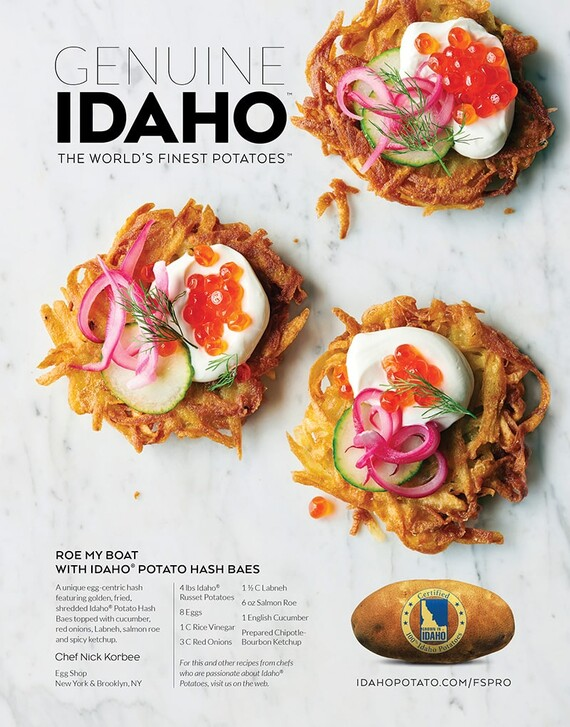 Roe My Boat with Idaho® Potato Hash Baes