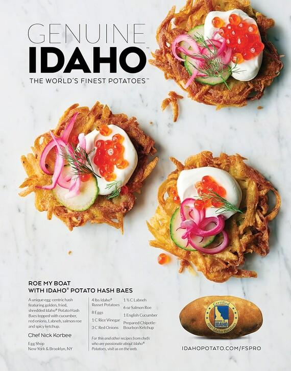 Roe My Boat with Idaho® Potato Hash Baes