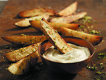 Skillet Fries with Gremolata and Aioli
