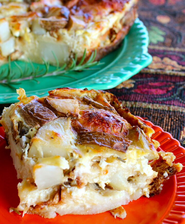 Idaho® Potato, Rosemary and Asiago Cheese Strata