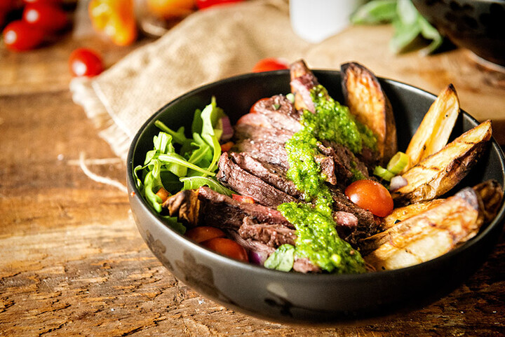 Grilled Chimichurri Steak Idaho® Potato Power Bowl