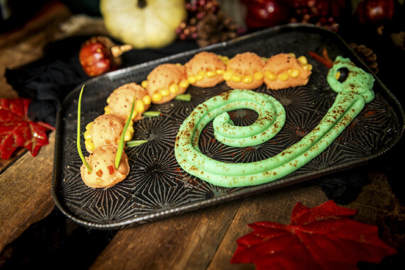 Creepy Idaho® Potato Critters: Orange Caterpillar