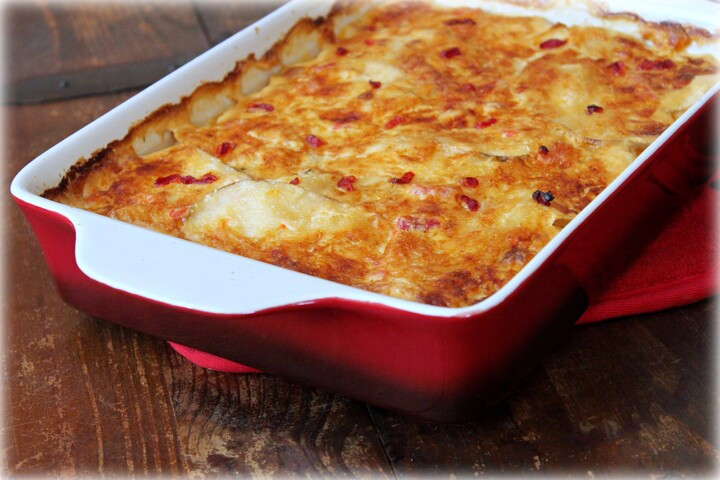 Pimento Cheese Idaho® Potato Gratin