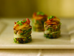 Idaho® Potato Nappa Cabbage, Apple Wood Bacon, Mushroom and Leek Casserole