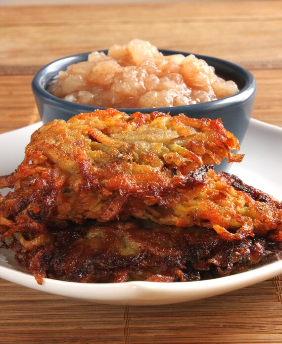Idaho® Potato Rainbow Latkes