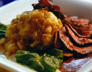 Leg of Lamb with Sautéed Idaho® Potatoes