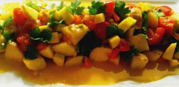 Garden Potato Salad w/Jalapeno Honey Mustard Vinaigrette