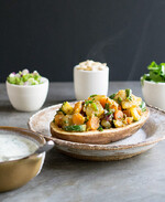 Idaho® Potato Earth Day Curried Spring Vegetable Chaat