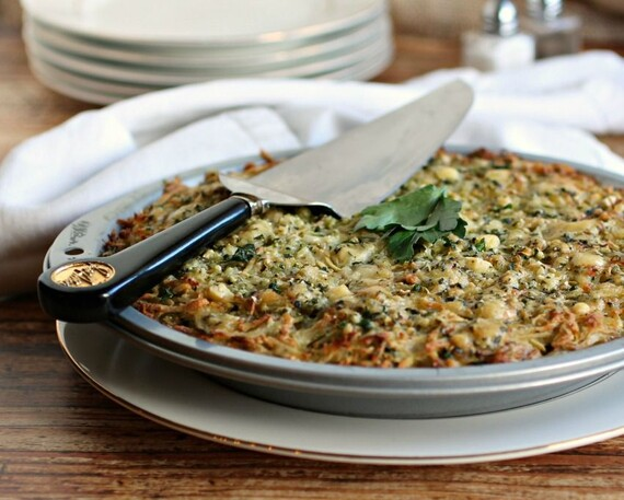 Cheesy Idaho® Potato and Parsnip Kugel