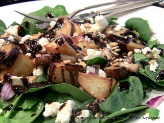 Warm Wilted Spinach and Idaho® Potato Salad