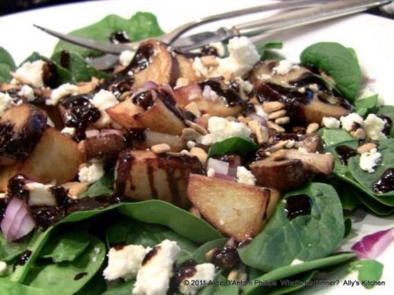 Warm Wilted Spinach and Idaho® Potato Salad