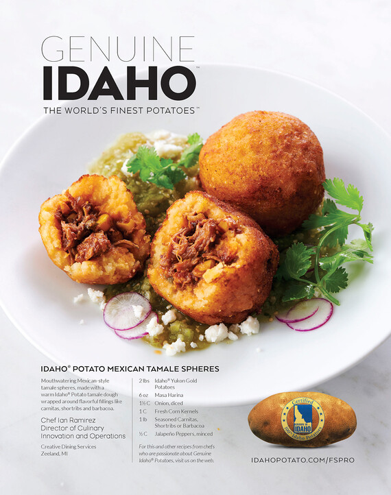 Idaho® Potato Mexican Tamale Sphere