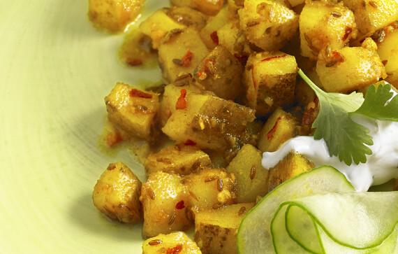 Sikkimese Turmeric and Ginger Idaho® Potatoes
