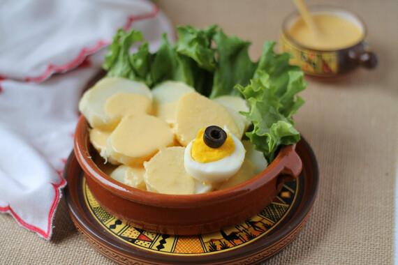 Idaho® Potatoes in Huancaina Sauce