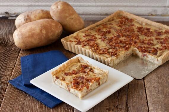 Idaho® Potato Tart with Crispy Bacon and Caramelized Shallots