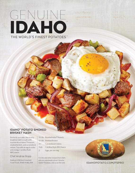 Idaho® Potato Smoked Brisket Hash