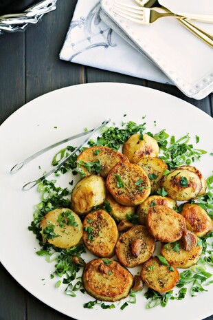 Melting Potatoes with Garlic and Herbs