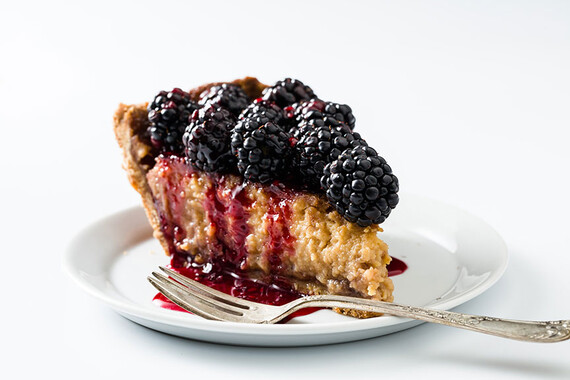 Honey-Sweetened Blackberry Buttermilk Idaho® Potato Pie
