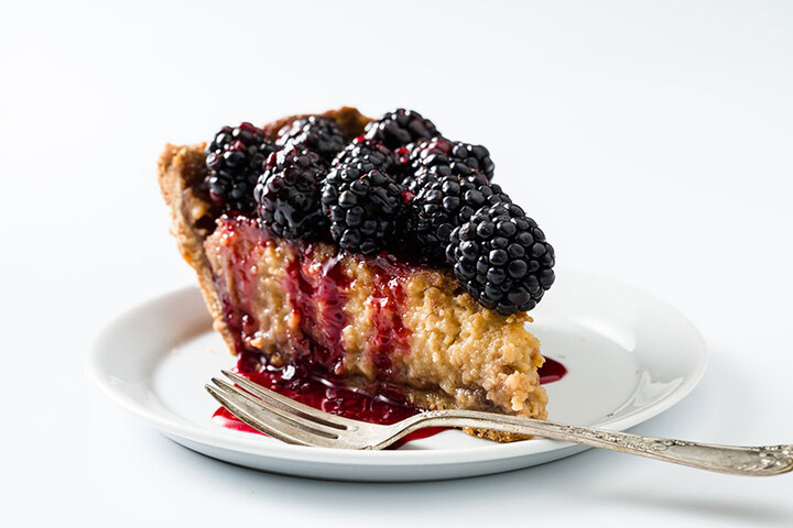Honey-Sweetened Blackberry Buttermilk Idaho® Potato Pie