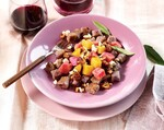 Purple Peruvian Gnocchi with Beets, Walnuts, Brown Butter and Gorgonzola Dolce