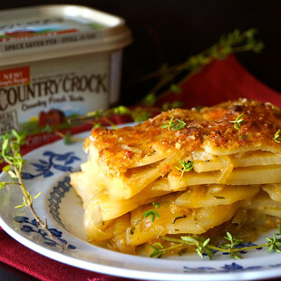 French Onion Idaho® Potato Gratin