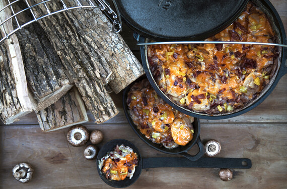 Idaho® Dutch Oven Scalloped Potatoes with Cabot cheeses