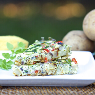 Idaho® Potato Dutch Oven Greek Frittata