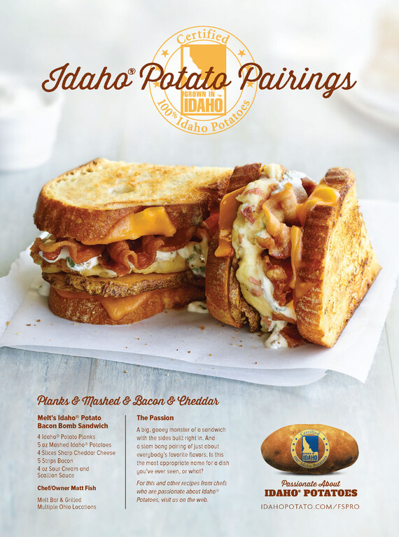 Melt's Idaho® Potato Bacon Bomb Sandwich
