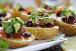 Idaho® Potato Bowls with Avocado and Black Beans