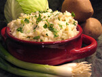 Irish Colcannon with Spring Onions and Leeks