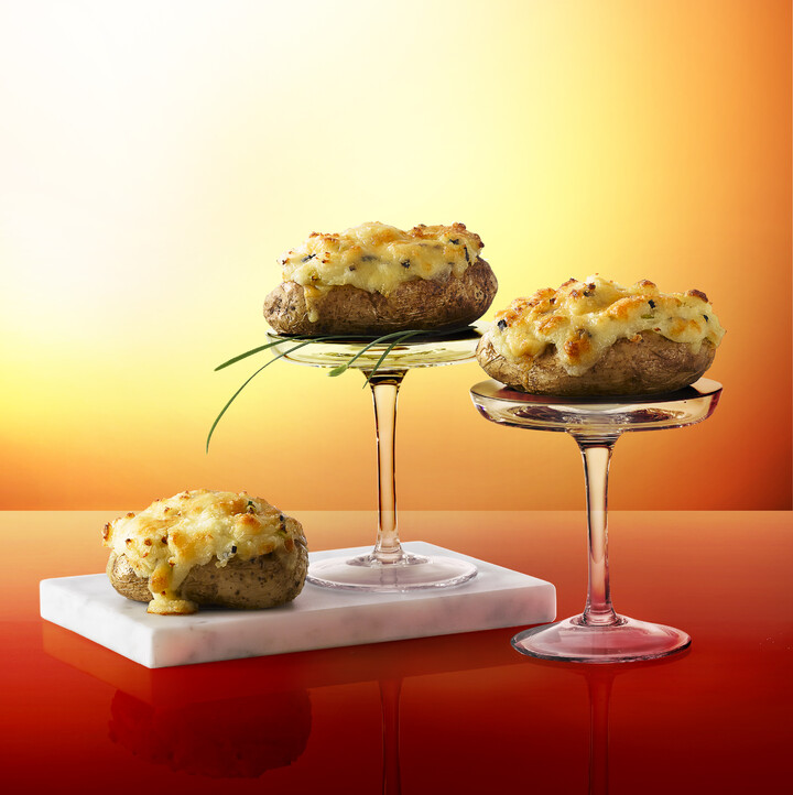 Twice Baked Idaho® Potato with Truffles and Cheddar