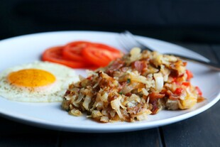 Easy, Cheesy Loaded Hash Browns