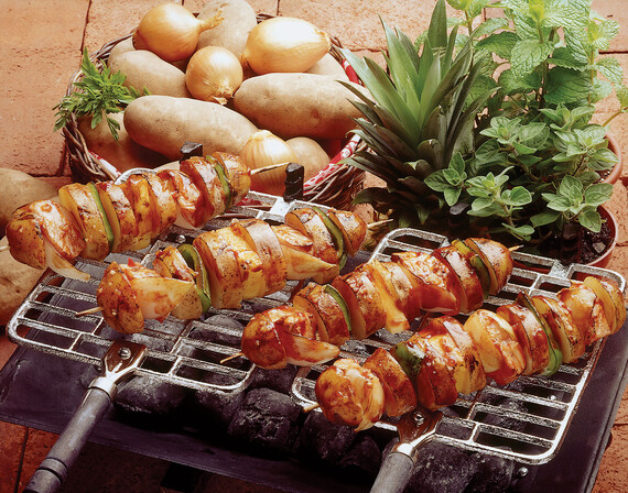 Idaho® Potato and Salmon Shish Kabob