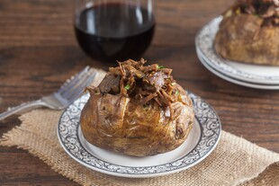 Beef Stuffed Baked Potatoes with Gremolata