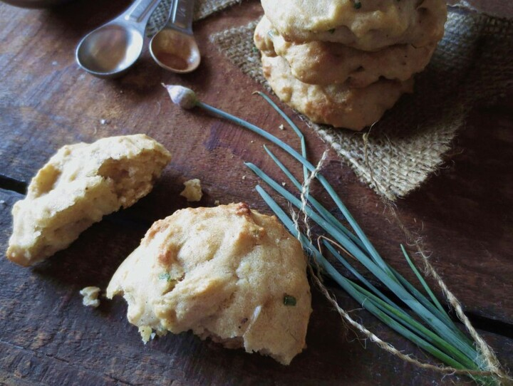 Baked Potato Cookies with Sour Cream & Chives