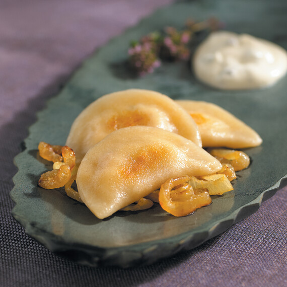 Idaho® Potato and Goat Cheese Pierogies