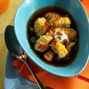 Loaded Gnocchi with Baked Potato Broth