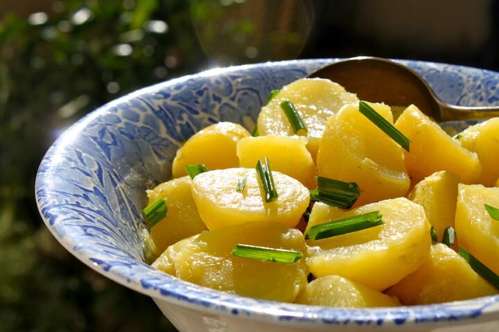 Springtime Green Garlic Potato Salad