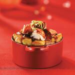 Idaho® Potato Hash with Lobster and Chorizo