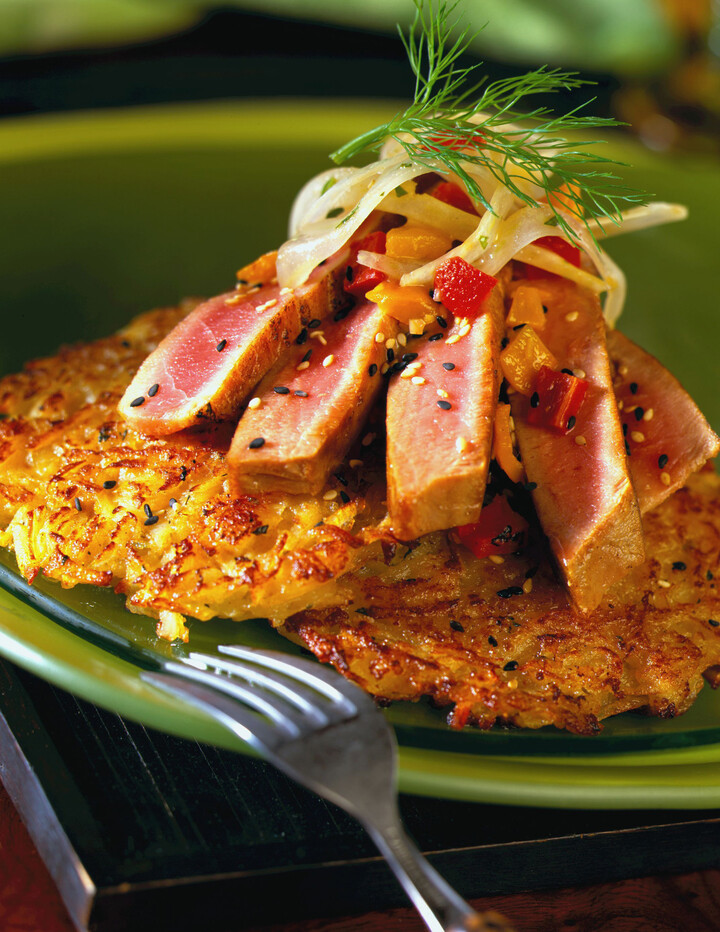 Tuna Wasabi Lobster Idaho® Potato Cakes