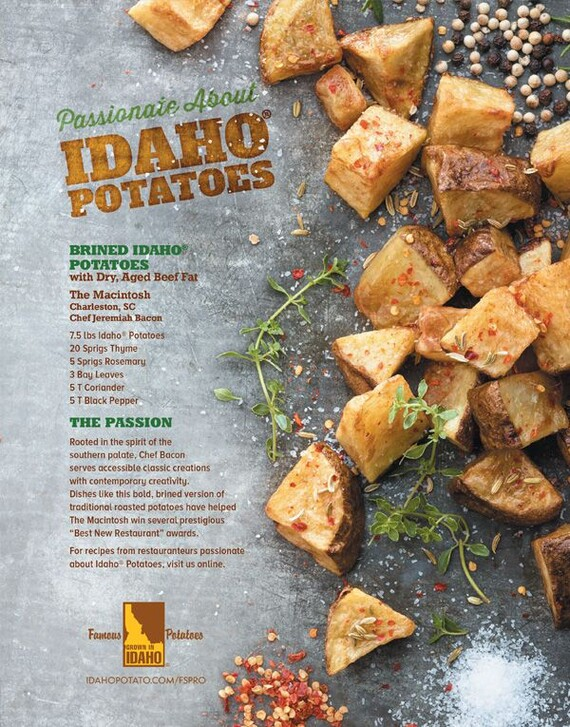 Brined Idaho® Potatoes with Dry Aged Beef Fat
