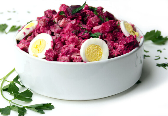Rosolje: Estonian Idaho® Potato and Beet Salad
