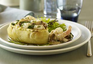 Fillet of Sole and Twice-Baked Potato