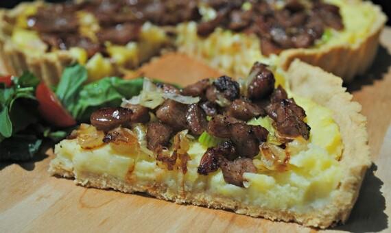 Idaho® Potato, Caramelized Leeks and Sausage Pie