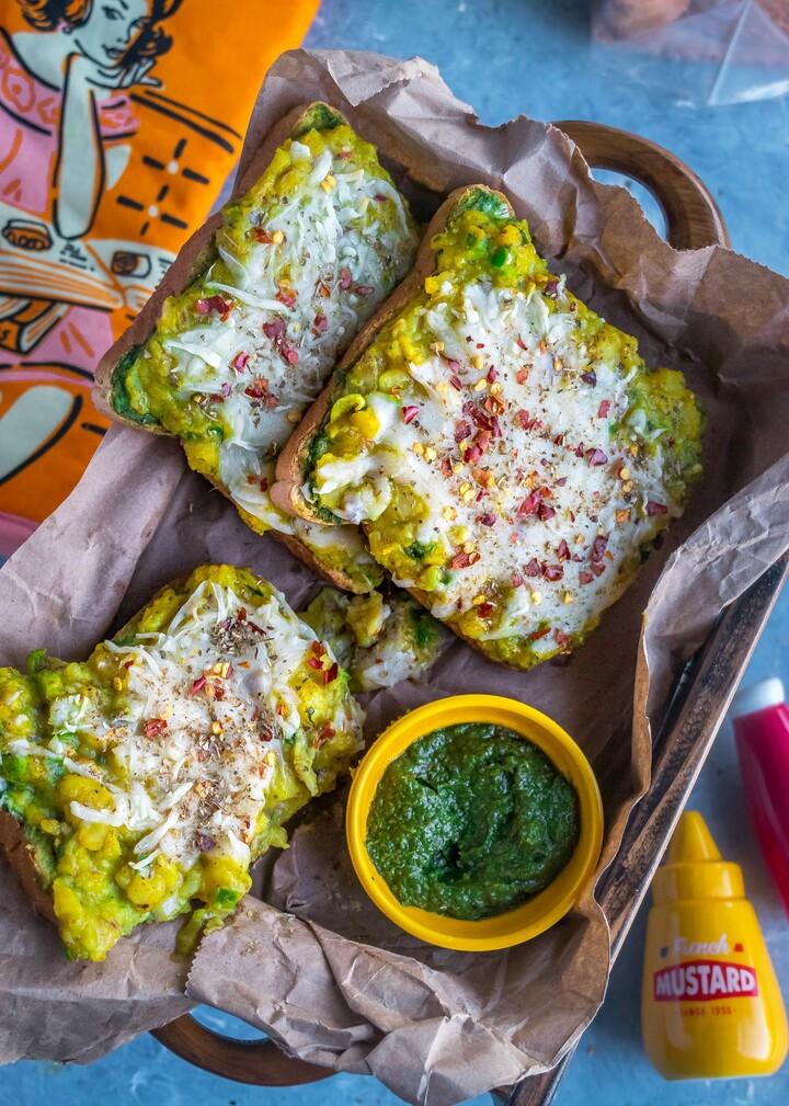 Idaho® Potato Chili Garlic Masala Toast