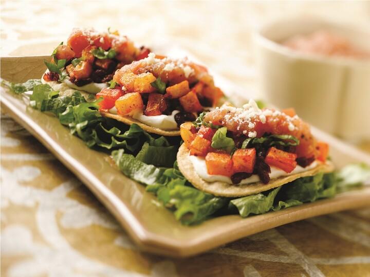 Idaho® Potato and Chorizo Mini Tostadas