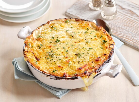 Sunchoke, Idaho® Potato and Raclette Gratin